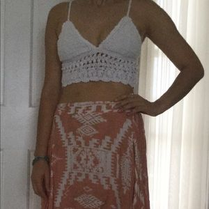 Billabong crocheted crop top